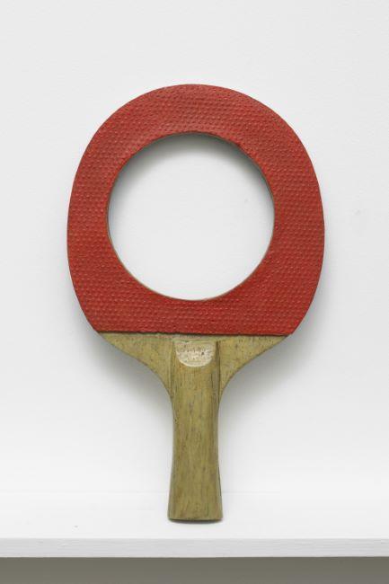 <u>Untitled (Ping Pong)</u><br />2012<br />bronze<br />9 1/2 x 4 x 1 inches (24.1 x 10.2 x 2.5 cm)<br />