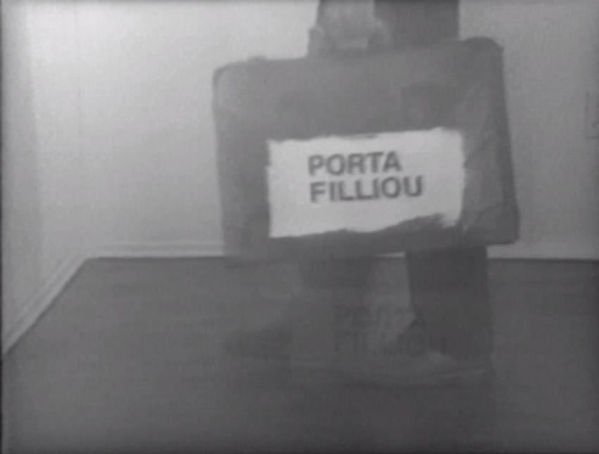 <i>Porta Filliou</i>  <br />(In collaboration with Clive Robertson and Marcella Bienvenue)<br /><br />1977<br />black and white video with sound<br />47 minutes<br />PF4936<br />