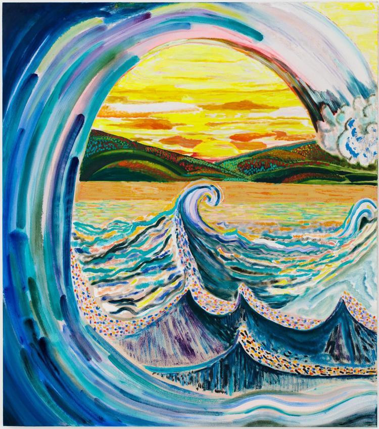 <B>Shara Hughes</B><br /><br /><I>Big Kahuna</I><br />2016<br />oil and acrylic on canvas<br />68 x 60 inches<br />  (172.7 x 152.4 cm)<br />PF5116<br />