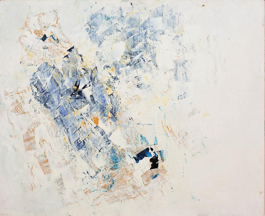 Charlotte Posenenske<br />Spechtelarbeit [Palette-knife work]<br />1959<br />oil on hardboard<br />paper: 21 x 25 5/8 inches<br /> (53.3 x 65.1 cm)<br />framed: 22 x 26 7/8 inches<br /> (55.9 x 68.3 cm)<br />PF3158<br />