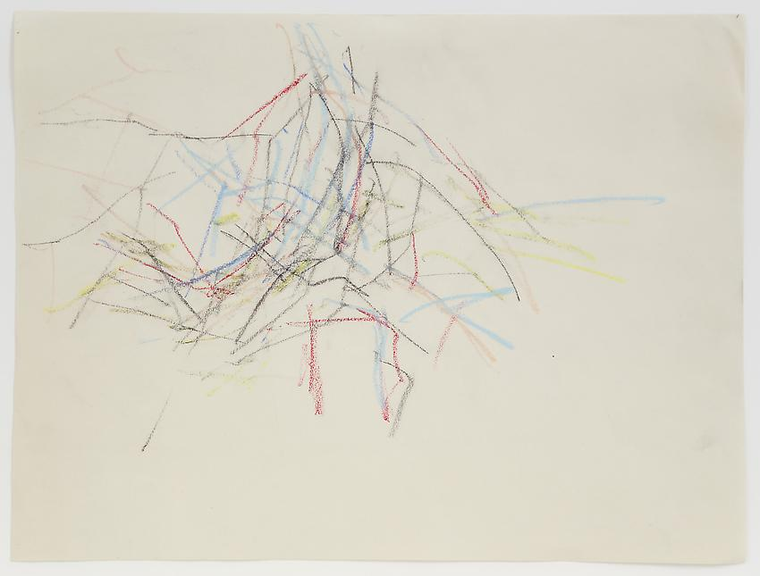 Charlotte Posenenske<br />Zeichnung (Landschaft) [Drawing (Landscape)]<br />n.d.<br />colored pencil on paper<br />paper: 11 3/4 x 15 5/8 inches<br /> (29.8 x 39.7 cm)<br />framed: 16 1/4 x 20 1/8 inches<br /> (41.3 x 51.1 cm)<br />PF3187<br />