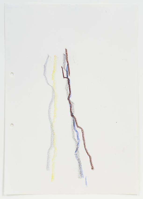 Charlotte Posenenske<br />Zeichnung (nach der Natur)<br /> [Drawing (after Natur)]<br />1962<br />colored pencil on paper<br />paper: 11 3/4 x 8 1/4 inches<br /> (29.8 x 20.9 cm)<br />framed: 17 x 13 1/2 inches<br /> (43.2 x 34.3 cm)<br />PF3191<br />
