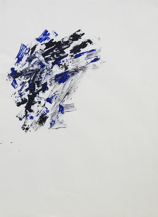 Charlotte Posenenske<br />Spachterlarbeit [Palette-knife work]<br />n.d.<br />acrylic on paper<br />paper: 18 7/8 x 14 1/8 inche<br />s (47.9 x 35.9 cm)<br />paper: 23 2/4 x 18 3/4 inches<br /> (59.7 x 47.6 cm)<br />PF3193<br />
