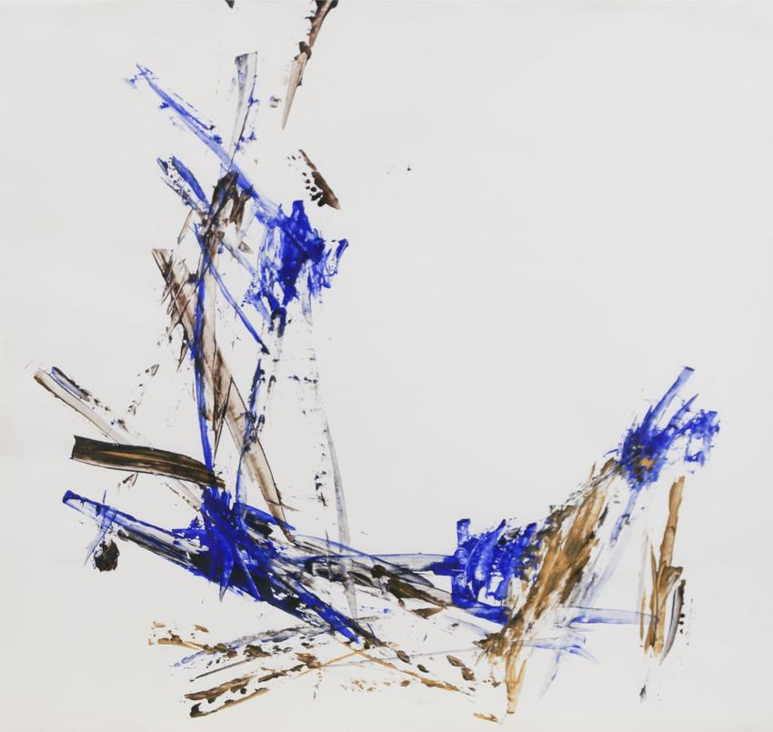 CHARLOTTE POSENENSKE<br /><i>Spachtelarbeit [Palette-knife work]</i><br />1963/64<br />acrylic on paper<br />24 5/8 x 35 3/8 inches (62.5 x 89.9 cm)<br />PF3195<br />