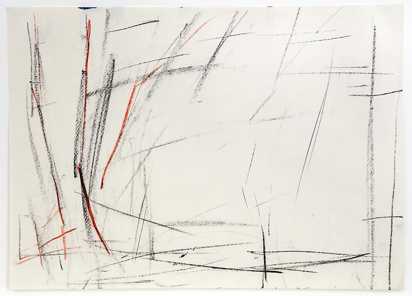 Charlotte Posenenske<br />Zeichnung [Drawing]<br />1964<br />chalk on paper<br />paper: 13 3/8 x 18 3/4 inches<br /> (33.9 x 47.6 cm)<br />framed: 17 7/8 x 23 1/8 inches<br /> (45.4 x 58.7 cm)<br />PF3198<br />