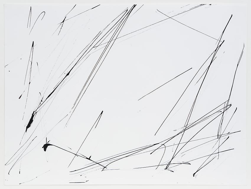 Charlotte Posenenske<br />Gestische Arbeit [Gestural Work]<br />1964<br />acrylic on paper<br />paper: 14 1/8 x 18 7/8 inches <br />  (35.9 cm x 47.9 cm)<br />framed: 18 3/8 x 23 1/4 inches<br />  (46.7 cm x 59.1 cm)<br />PF3199<br />