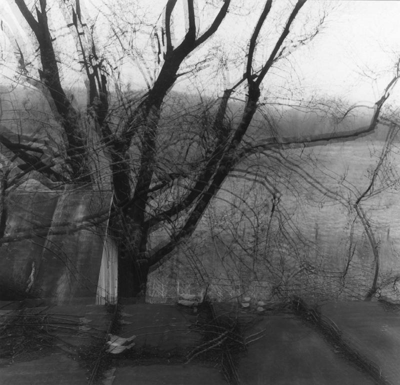 Ralph Eugene Meatyard<br />#13 - #5 Motion<br />c. 1968-72<br />gelatin silver print<br />image and sheet: 7 1/8 x 7 3/8 inches<br />(18.1 x 18.6 cm)<br />mount: 11 1/2 x 9 5/8<br />