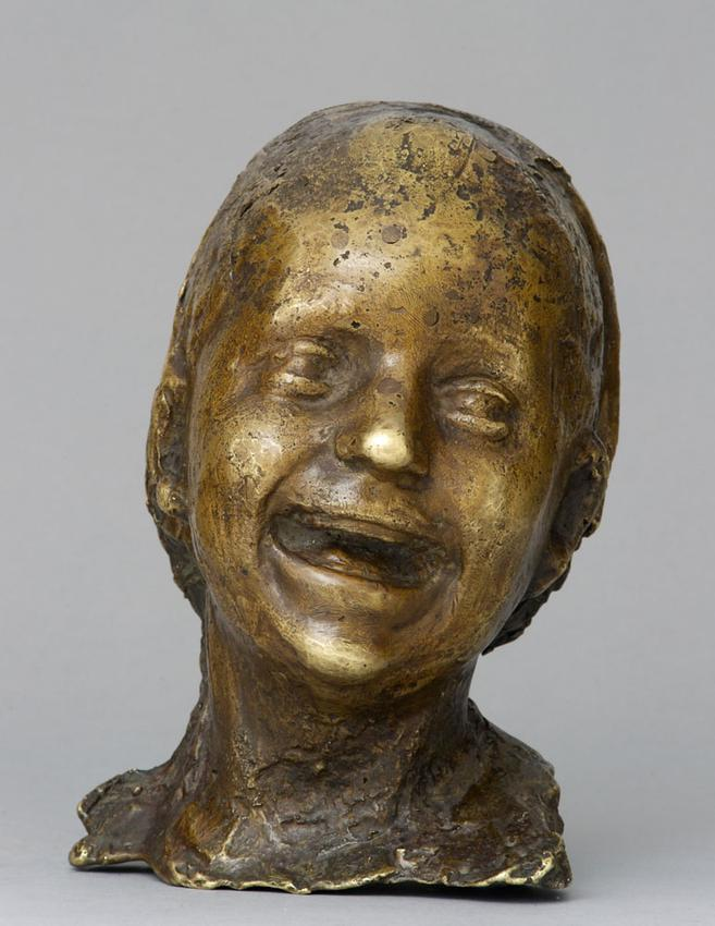 Medardo Rosso (1858 - 1928)<br /><br />La Bambina Ridente<br />1889; thought to be cast 1902<br />cast bronze<br />8 3/4 x 7 3/8 x 6 1/8 inches<br />(22.2 x 18.7 x 15.6 cm)<br />PF3967<br />