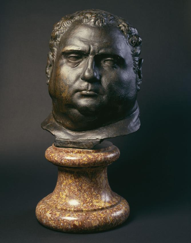 <u>The Emperor Vitellius</u><br />c. 1902 <br />cast bronze<br />19 5/8 x 10 x 9 1/4 inches <br />(50 x 25 x 22 cm)<br />
