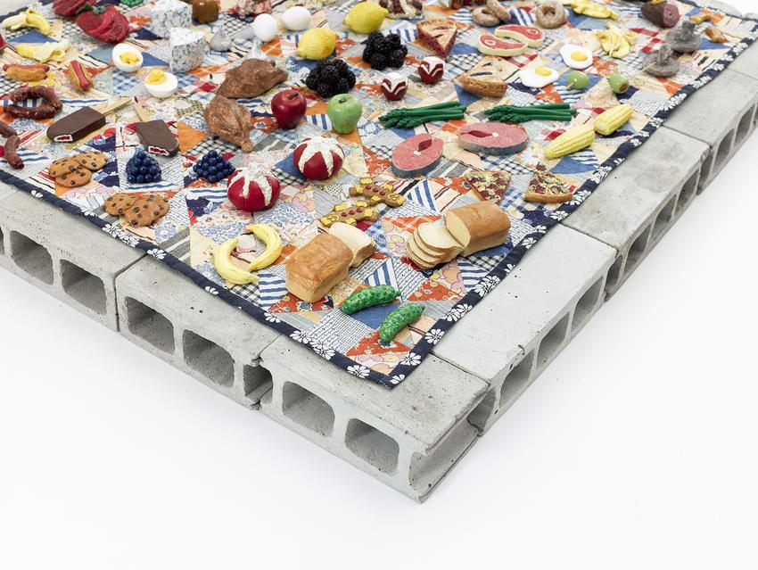 <u>Picnic</u> (detail)<br />2005-2013<br />mixed media<br />31 1/2 x 28 1/4 x 5 3/8 inches (80 x 71,7 x 13,6 cm)<br />Smithsonian American Art Museum<br />