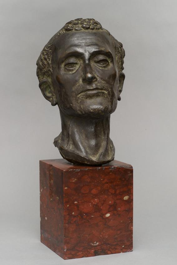 Medardo Rosso (1858 - 1928)<br /><br />San Francesco<br />(after Donatello)<br />1891; thought to be cast 1892-1893<br />cast bronze<br />11 1/16 x 7 1/4 x 9 inches<br />(28.1 x 18.4 x 22.9 cm)<br />overall:<br />18 1/8 x 7 1/4 x 9 inches<br />(46 x 18.4 x 22.9 cm)<br />PF3525<br />