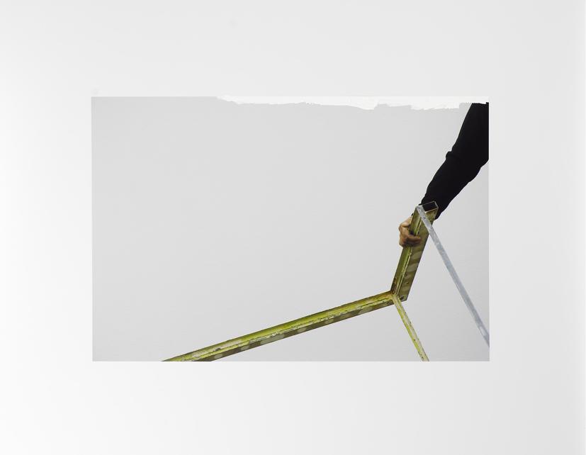 <u>Self-portrayed in the studio #11, 2008</u><br />lambda print and acrylic<br />23 5/8 x 15 3/4 inches (60 x 40 cm)<br />Edition 4/5<br />