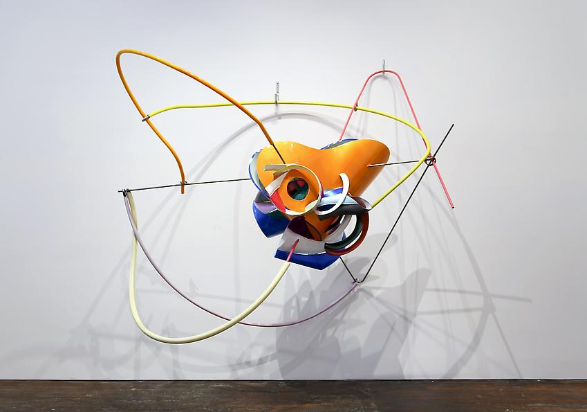 Frank Stella<br />K.144<br />2013<br />paint on Acrylonitrile Butadiene Styrene and stainless steel<br />76 x 97 x 49 inches  (193 x 246.4 x 124.5 cm)<br />PF3005<br />