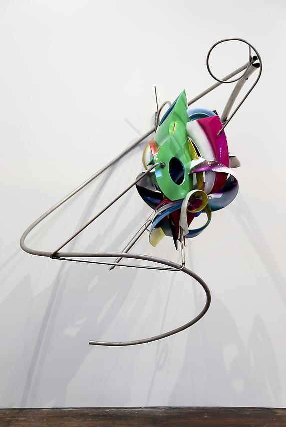 Frank Stella<br />K.123<br />2013<br />paint on Acrylonitrile Butadiene Styrene and<br />stainless steel<br />84 x 67 x 50 inches  (213.4 x 170.2 x 127 cm)<br />PF3037<br />