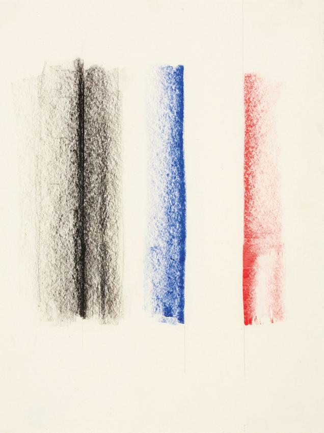 CHARLOTTE POSENENSKE<br /><i>Zeichnung [Drawing]</i><br />1964<br />coloured pencil on paper<br />6 1/8 x 4 5/8 inches (15.6 x 11.7 cm)<br />PF3139<br />