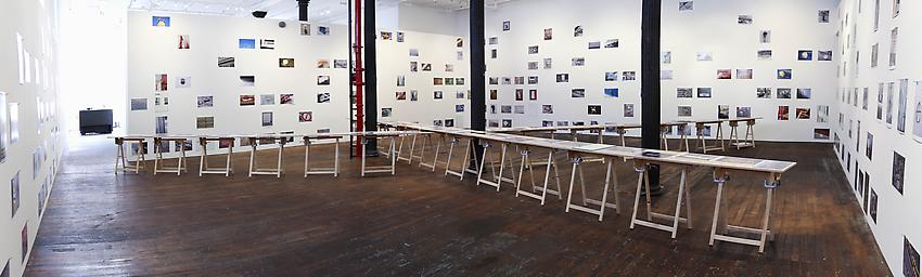 "Richard Wentworth<br />Installation, <i>motes to self</i>, an exhibition of hundreds of images from the past eight years, 2006 – 2014, just a small part of the series ""Making Do and Getting By"" begun in 1974.<br />"