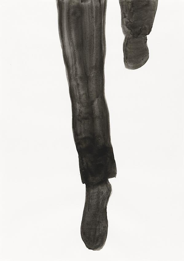 """Silvia Bächli<br />Untitled (part of the installation """"das"""")<br />2009<br />gouache on paper<br />17 3/8 x 12 1/4 inches<br /> (44 x 31 cm)<br />"""