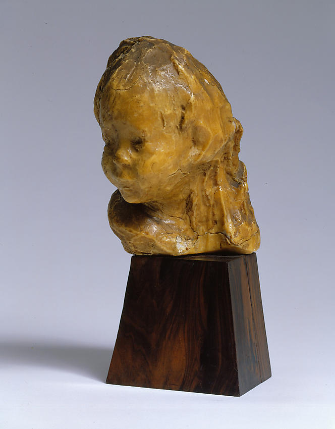 Medardo Rosso<br />Bambino ebreo  <br />1892-93<br />wax over plaster on artist's base<br />10 x 5 7/8 x 7 5/8 inches<br />  (25.5 x 15 x 19.5 cm)<br />