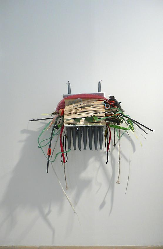 Richard Wentworth<br />Going Native (for Tom Sachs)<br />2010<br />dictionary and found materials<br />43 x 35 x 15 1/2 inches<br />  (109.2 x 89 x 39.5 cm)<br />