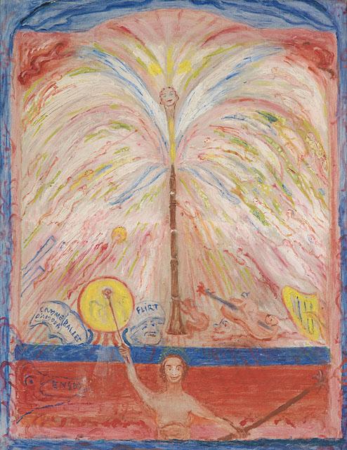 JAMES ENSOR  (1860 - 1949)<br /><i>L'âme de la musiqe</i> (The Spirit of Music)<br />1940 / 1941<br />oil on canvas<br />29 x 22 3/5 inches (73.5 x 57.5 cm)<br />