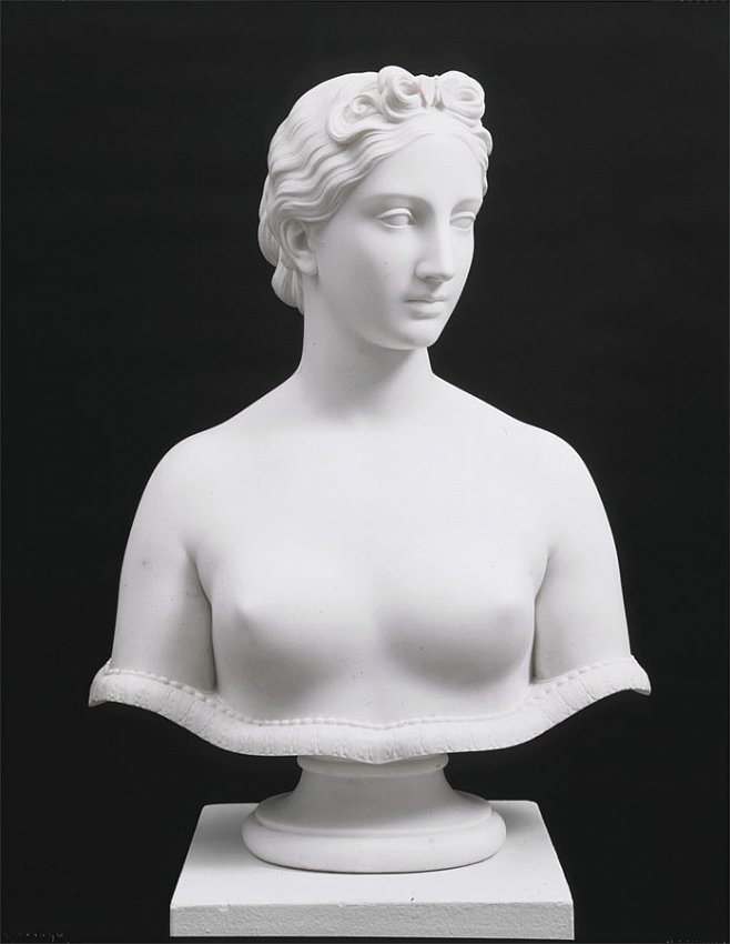 Hiram Powers<br />Psyche<br />c. 1848<br />marble<br />25 x 17 1/2 x 9 inches<br />(63.5 x 44.5 x 22.9 cm)<br />