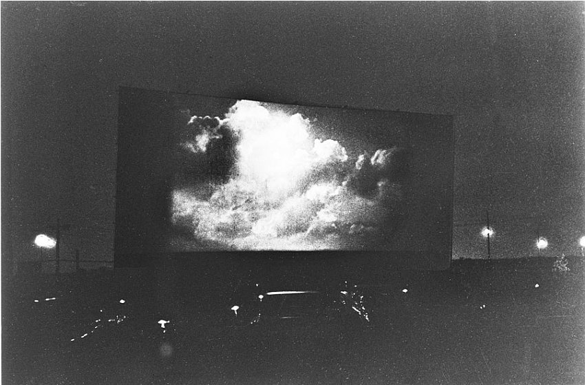 DIANE ARBUS<br />	Clouds on screen at a drive-in, N.J.	<br />	1960 / printed 1960<br />	gelatin-silver print<br />