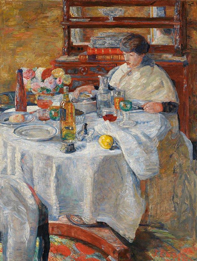 La mangeuse d'huîtres (The Oyster Eater)<br />1908<br />oil on canvas<br />146 x 113 cm<br />