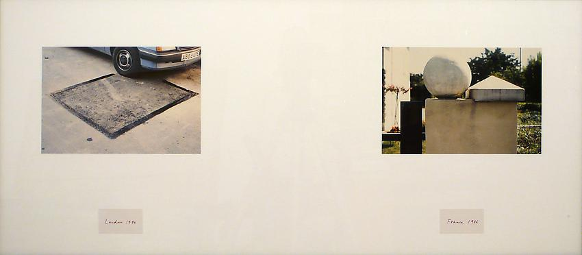 Richard Wentworth<br />Making Do and Getting By<br />(London 1990/France 1986)<br />1995<br />two c-prints mounted and framed<br />18 7/8 x 42 1/8 inches (48 x 107 cm)<br />PF1477<br />minimum donation: EUR 2,200.<br />(including frame)<br />