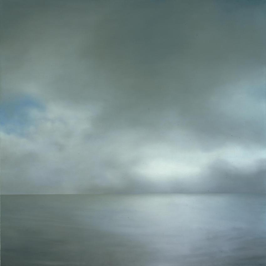 GERHARD RICHTER<br /><i>Seestück</i> (leicht bewölkt)    (#239-2)<br />1969<br />oil on canvas<br />78 3/4 x 78 3/4 inches (200 x 200 cm.)<br />