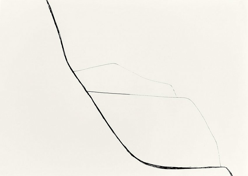 Silvia Bächli<br />Untitled<br />2007<br />india ink on paper<br />24 3/8 x 16 1/2  inches<br />  (44 x 62 cm)<br />PF1356<br />