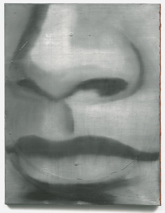 GERHARD RICHTER<br /><i>Nase</i> [Nose]  (11)<br />1962<br />oil on canvas<br />30 3/4 x 23 5/8 inches (78 x 60 cm)<br />