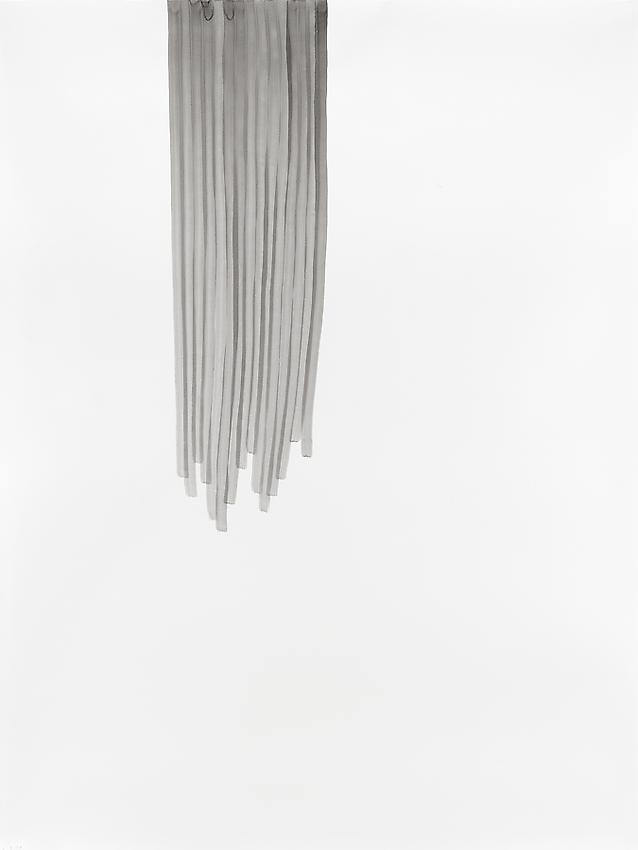 """Silvia Bächli<br />Untitled (part of the installation """"das"""")<br />2009<br />gouache on paper<br />78 3/4 x 59 1/16  inches<br /> (200 x 150 cm)<br />"""