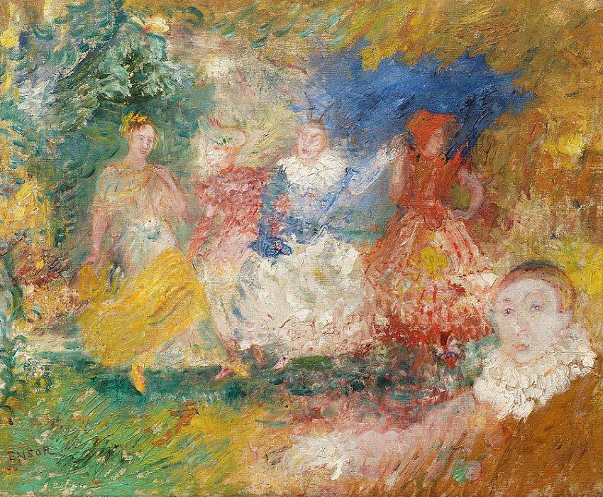 Les Ballerines (La danse) (The Ballerinas (The Dance))<br />1896<br />oil on canvas<br />37 x 46 cm<br />