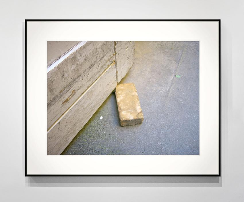 RICHARD WENTWORTH<br /><i>Copenhagen, August 2014</i><br />2014 / 2015<br />archival inkjet print on Epson Premium Luster Photo Paper and nails<br />12 5/8 x 16 7/8 inches<br />  (32.1 x 42.9 cm)<br />PF3654<br />