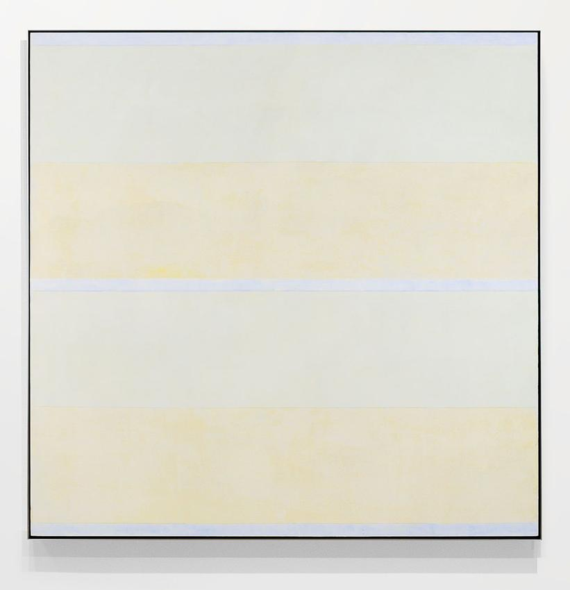 AGNES MARTIN  (1912 - 2004)<br /><i>Untitled</i><br />no date (c.2000)<br />acrylic and traces of graphite on canvas<br />60 x 60 inches (152.4 x 152.4 cm)<br />