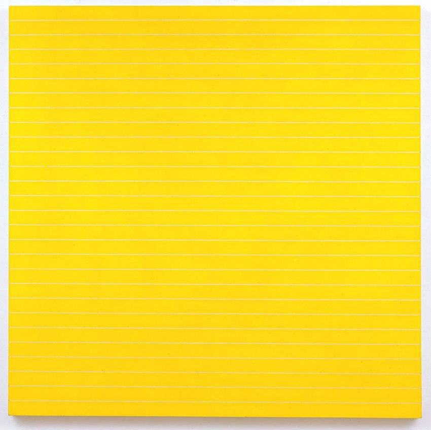 Frank Stella<br />Palmito Ranch<br />1961<br />alkyd on canvas<br />77 1/4 x 77 1/4 inches<br />(196.2 x 196.2 cm)<br />