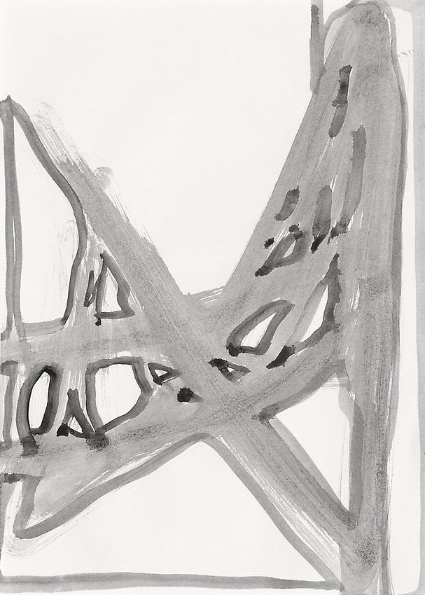 Silvia Bächli<br />Untitled<br />2010<br />gouache on paper<br />13 3/4 x 9 7/8 inches (35 x 25 cm) <br />PF1994<br />