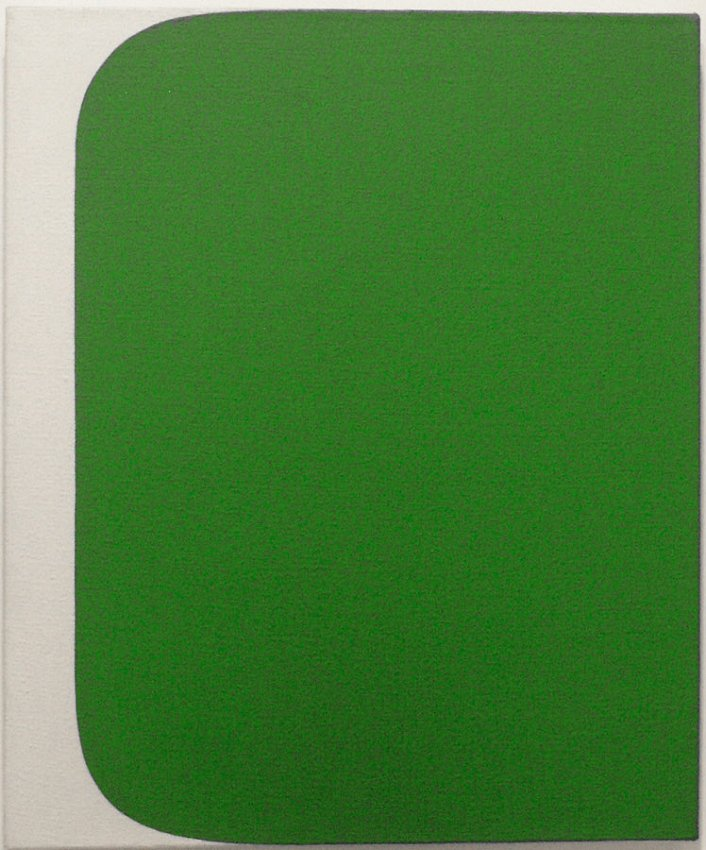 Ellsworth Kelly<br />Green Form <br />1955<br />oil on canvas<br />24 x 20 inches (61 x 50.8 cm)<br />