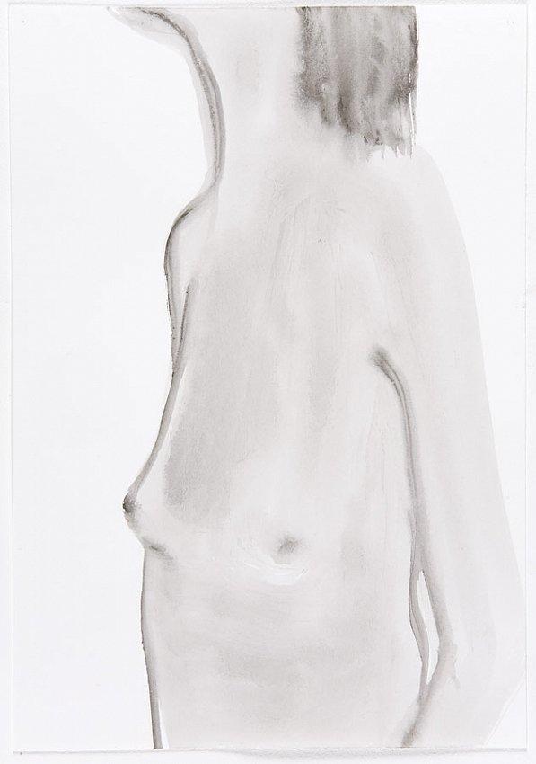 Silvia Bächli<br />Untitled<br />2007<br />gouache on paper<br />10 1/4 x 7 1/8  inches<br />  (26.1 x 18.2 cm)<br />PF1335<br />