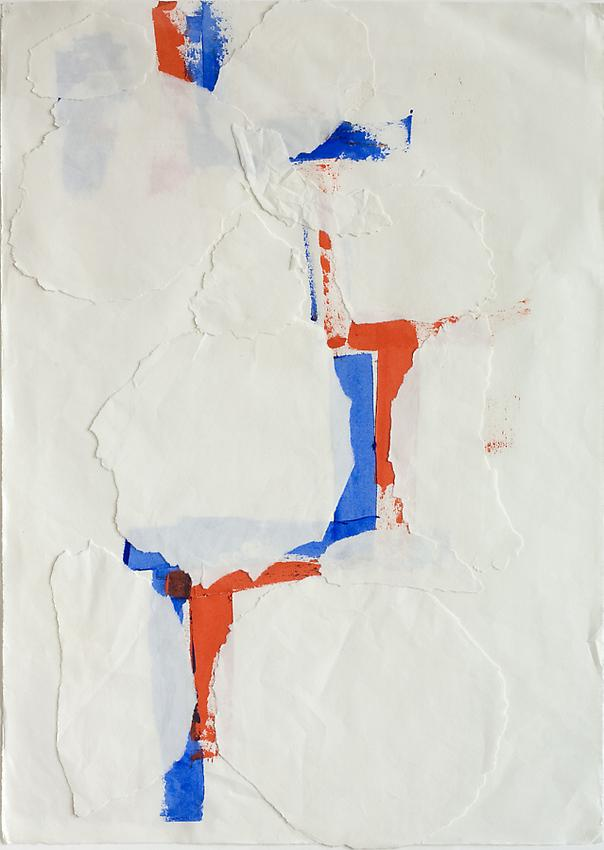 Charlotte Posenenske<br />Untitled, c. 1962<br />collage on paper<br />24 x 16 7/8 inches<br />