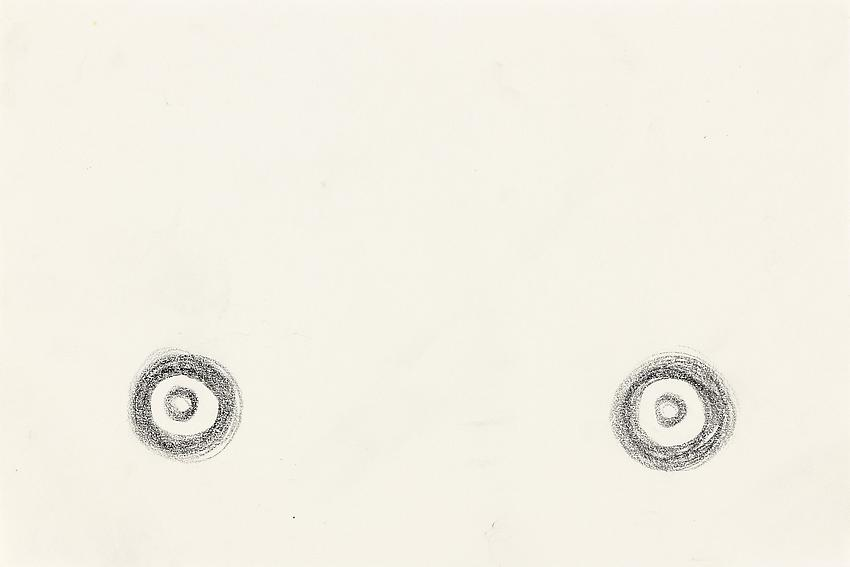 """Silvia Bächli<br />Untitled (part of the installation """"das"""")<br />2009<br />crayon on paper<br />5 7/8 x 8 7/8 inches<br />(15 x 22.5 cm)<br />"""