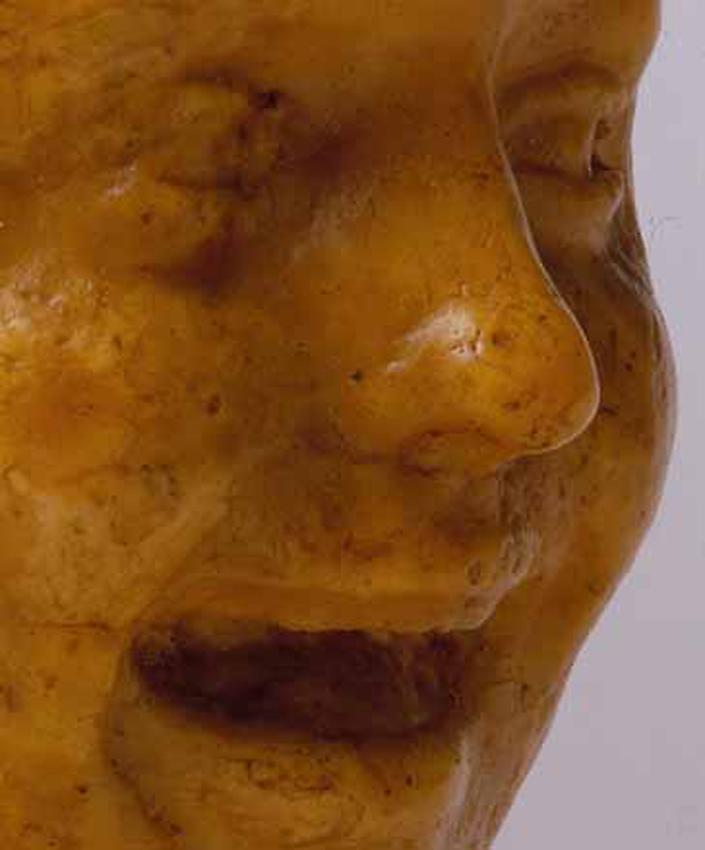 Medardo Rosso<br />[detail] Bambina che ride<br />1889-90<br />wax over plaster<br />10 x 7 x 7 1/2 inches<br />(25.4 x 17.8 x 19 cm)<br />