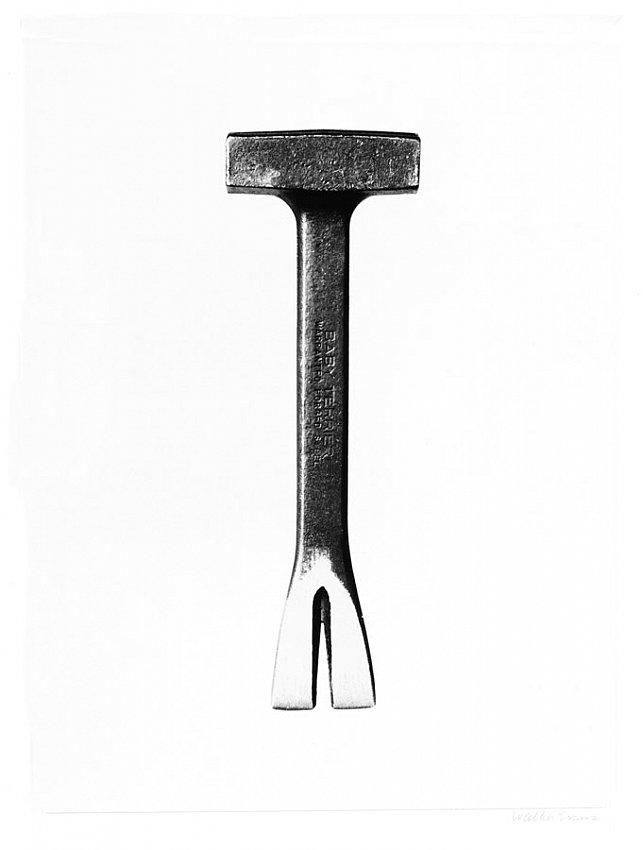 WALKER EVANS	<br />	Hand Tool							<br />	1950-55<br />	early gelatin-silver print<br />	9-3/8 x 6-3/4 inches (23.81 x 17.14 cm)<br />