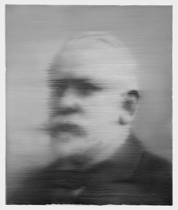 GERHARD RICHTER<br />Alter Mann [Old Man]	(321-1)<br />1971<br />oil on canvas<br />23 1/2 x 19 3/4 inches <br /> (60 x 50 cm)<br />
