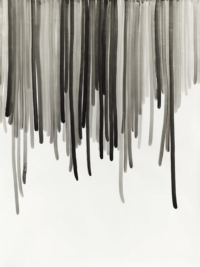 Silvia Bächli<br />Untitled 28<br />2007<br />gouache on paper<br />78 3/4 x 59 1/16 inches <br />  (200 x 150 cm)<br />PF1361<br />