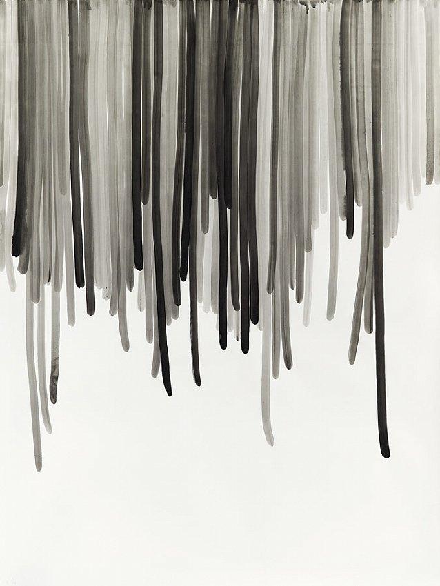 Silvia Bächli<br />Untitled 28<br />2007<br />gouache on paper<br />78 3/4 x 59 1/16 inches <br />  (200 x 150 cm)<br />PF1361<br />