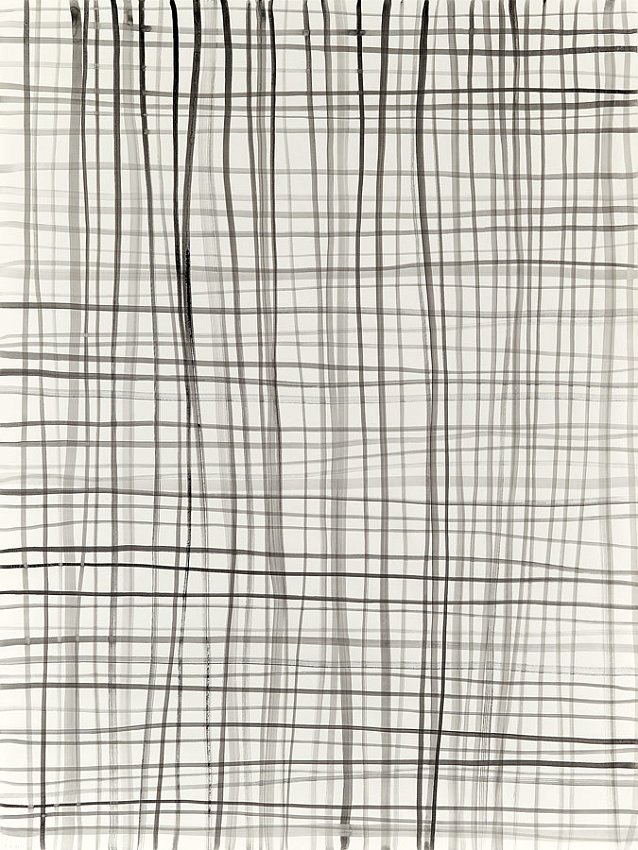 Silvia Bächli<br />Lines 39<br />2007<br />gouache on paper<br />78 3/4 x 59 1/16 inches <br />  (200 x 150 cm)<br />PF1359<br />