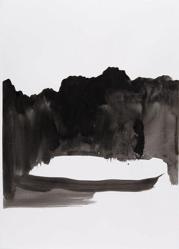 Silvia Bächli<br />Untitled<br />2007<br />gouache on paper<br />16 1/2 x 24 3/8 inches<br />  (44 x 31 cm)<br />PF1339<br />