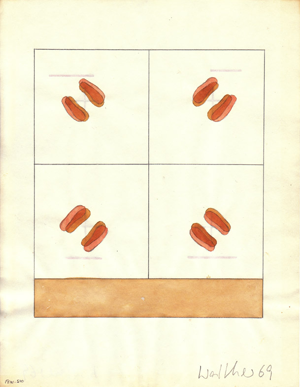 FRANZ ERHARD WALTHER<br />Werkzeichnung<br />1969<br />watercolor and pencil on paper<br />11 x 8 1/2 inches  (28 x 21.5 cm)<br />PF1730<br />