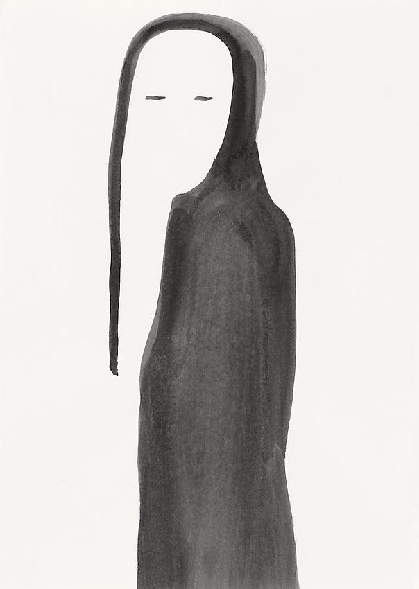 Silvia Bächli<br />Untitled<br />2008<br />gouache on paper<br />12 1/4 x 8 5/8 inches (31 x 22 cm) <br />PF1970<br />